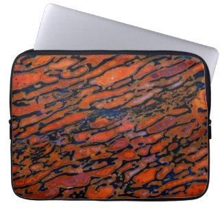 Red Petrified dinosaur bone Laptop Sleeve