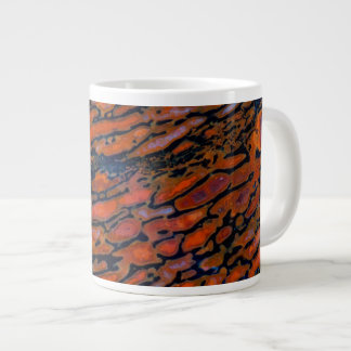 Red Petrified dinosaur bone Large Coffee Mug