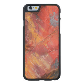 Red Petrified wood detail, Arizona Carved Maple iPhone 6 Slim Case