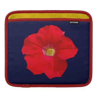 Red Petunia Sleeves For iPads