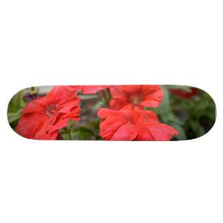 Red Petunias Skateboard Deck
