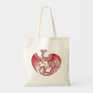 Red Phoenix Tote Canvas Bag