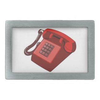 RED PHONE BELT BUCKLE