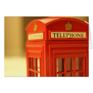 Red Phone Booth Stationery Note Card