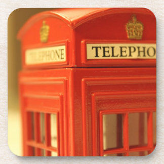 Red Phone Booth Drink Coaster
