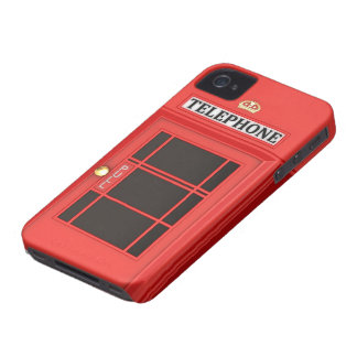 Red Phone Booth iPhone 4 Cover