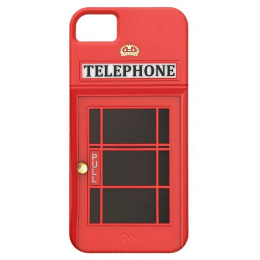 Red Phone Booth iPhone 5 Case