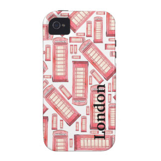 Red phone booth iphone case iPhone 4 cases