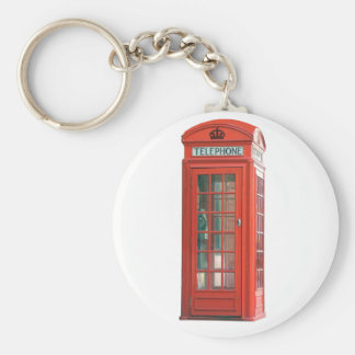 Red Phone Booth Keychain