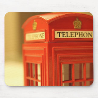 Red Phone Booth Mouse Pad