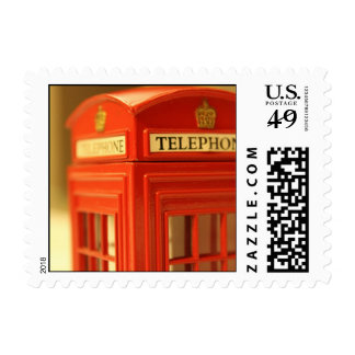 Red Phone Booth Postage Stamps