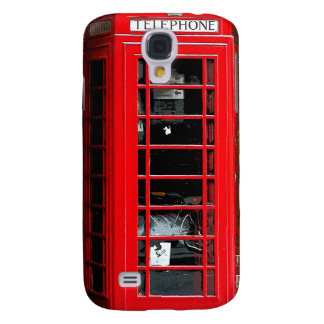 Red Phone Box London England UK Galaxy S4 Covers