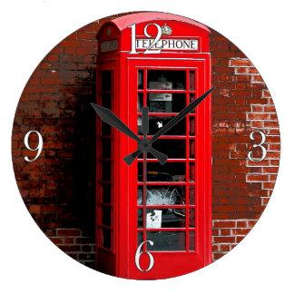 Red Phone Box London England UK Large Clock