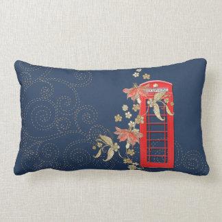 Red Phone Box Lumbar Throw Pillow Pillows