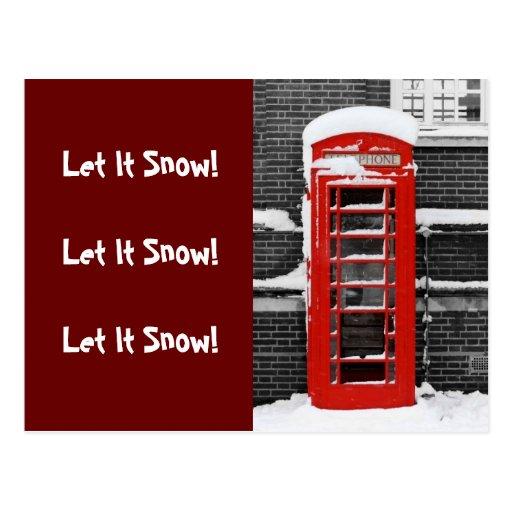 Red Phone Box Postcards