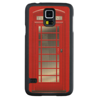 Red Phone Call Box Carved® Maple Galaxy S5 Slim Case