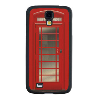 Red Phone Call Box Carved® Maple Galaxy S4 Case
