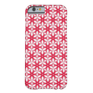 Red Phone Case with White Floral Pattern