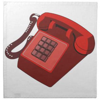 RED PHONE CLOTH NAPKIN