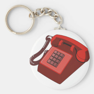 RED PHONE KEYCHAIN