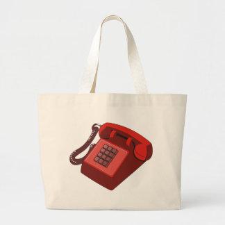 RED PHONE LARGE TOTE BAG