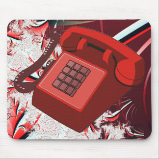 RED PHONE MOUSE PAD