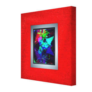 Red photo border canvas wrapped frame gallery wrapped canvas