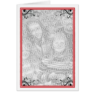 Red Photo Frame Card