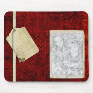 Red photo mousepad template