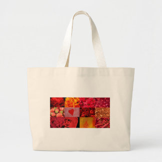 Red Photography Collage Large Tote Bag
