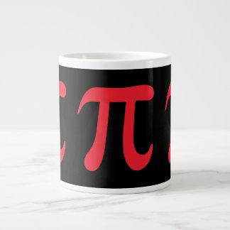 Red pi symbol on black background giant coffee mug