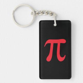 Red pi symbol on black background Single-Sided rectangular acrylic keychain