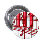 RED PIANO KEYBOARD BUTTON