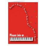 Red Piano Recital Invitation Stationery Note Card
