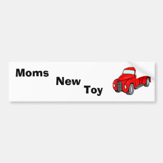 red_pick-up_truck, Moms, Toy, New Bumper Sticker