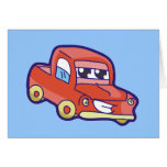 Red Pickup Truck Tshirts and Gifts Greeting Card