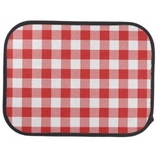 Red picnic checkers car floor mat