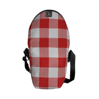 Red picnic checkers courier bags