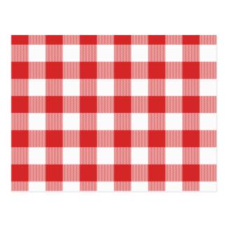 Red picnic checkers postcard