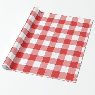 Red picnic checkers wrapping paper