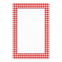 Red Picnic Table Stationery