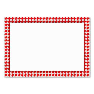 Red Picnic Table Table Cards