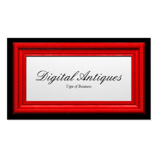 Red Picture Frame Double-Sided Standard Business Cards (Pack Of 100)