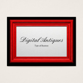 Red Picture Frame Business Card
