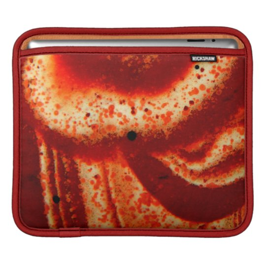 Red picture jasper natural stone closeup sleeve for iPads