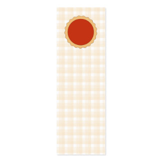 Red Pie. Strawberry Tart. Beige Check. Business Card Templates