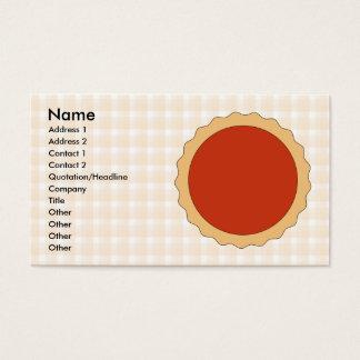 Red Pie. Strawberry Tart. Beige Check. Business Card