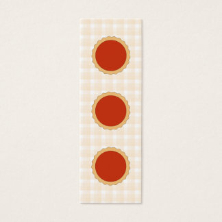 Red Pie. Strawberry Tart. Beige Check. Mini Business Card