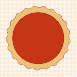 Red Pie. Strawberry Tart. Beige Check. Photo Cut Out