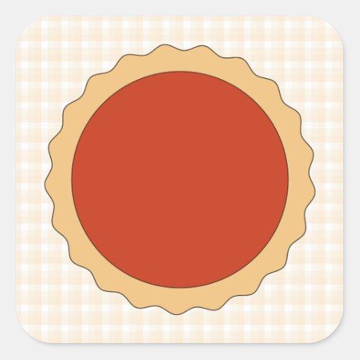 Red Pie. Strawberry Tart. Beige Check. Stickers